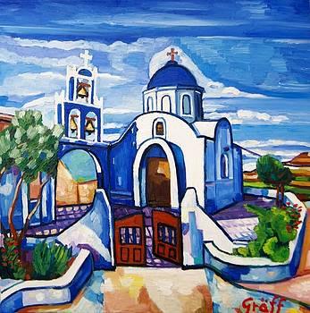 Allerheiligenkirche in Akrotin Santorin by Matthias Laurenz Graeff
