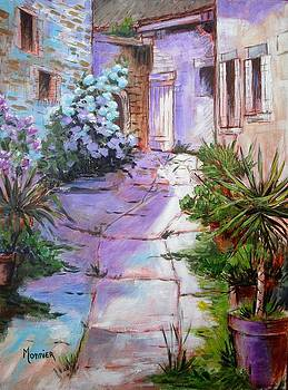Alley in the village by Cathy MONNIER