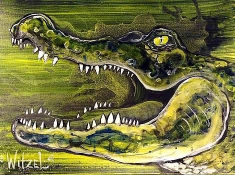 Alligator Smile by Witzel Art