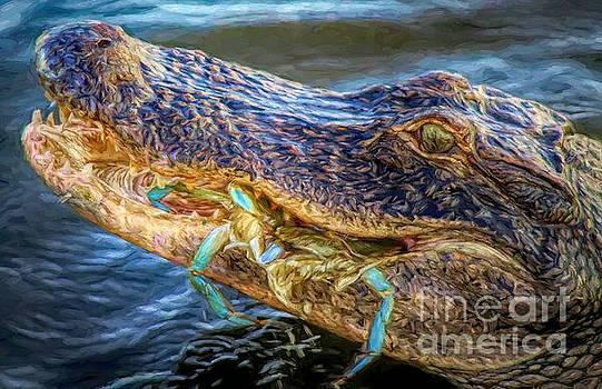 Paulette Thomas - Alligator With Crab