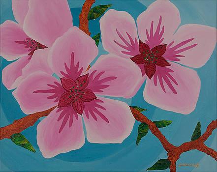 Almond Blossoms by Jill Kelsey