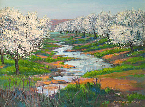Almond Orchard in Bloom by Rhett Regina Owings