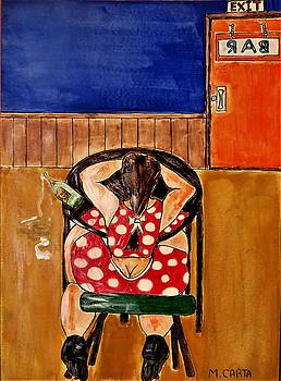 Alone and Drinking  by Mario Carta
