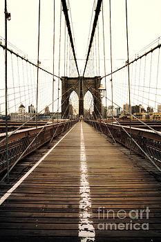 Alone on the Brooklyn Bridge by John Farnan