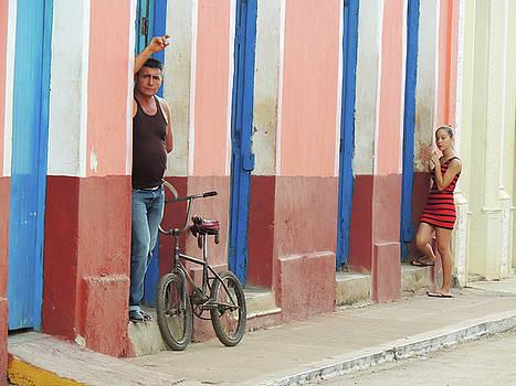 Along a Cuban Street by Krin Van Tatenhove