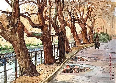 Along river Wensum  Norwich by Hopebaby Pradit
