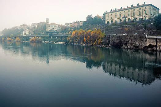 Along the Adda river, shot on foggy autumnal day at Vaprio d'Add by Alfio Finocchiaro
