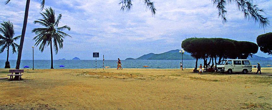 Along The Boardwalk In Nha Trang, Vietnam by Rich Walter