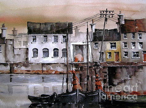 Along the Cladagh Galway by Val Byrne