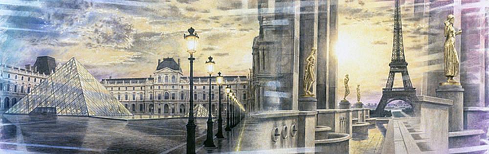 Along The Seine, Paris by Loren Salazar