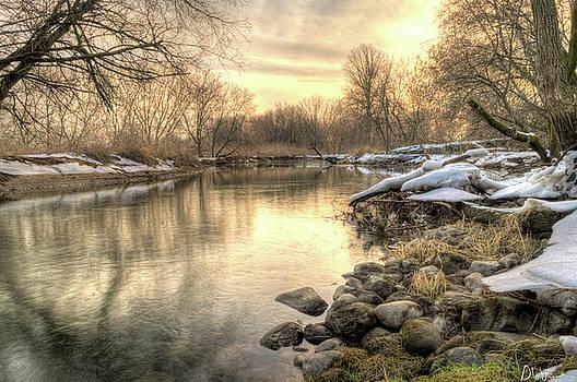Garvin Hunter - Along The Thames River Signed