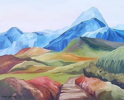 Alp Landscape by Carola Ann-Margret Forsberg