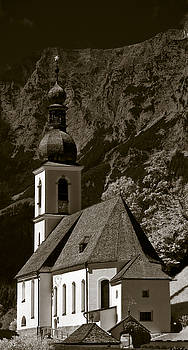 Alpine Church by Frank Tschakert