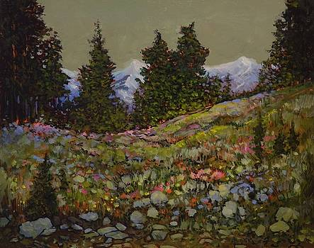Alpine in Bloom, Manning Provincial Park, B. C. by Catherine Robertson