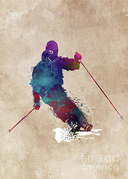 Alpine Skiing  by Justyna JBJart