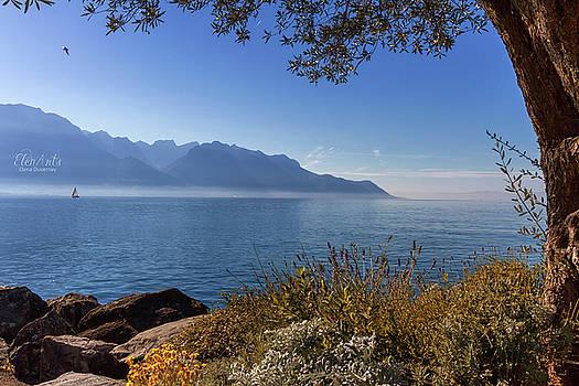 Elenarts - Elena Duvernay photo - Alps mountains upon Geneva lake, Montreux, Switzerland