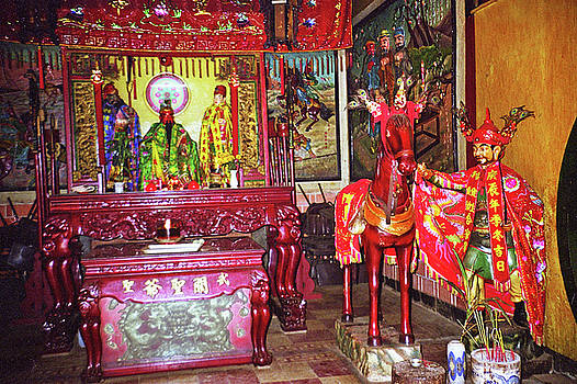 Altar At Nord Hoi Buddhist Temple by Rich Walter