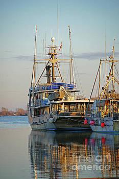 Aluminium Fishing Boat in the Setting Sun by Randy Harris