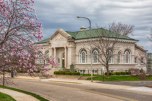Alvah N Belding Library Belding Michigan Historic Building by J Thomas