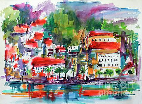 Ginette Callaway - Amalfi Coast Italy Expressive Watercolor