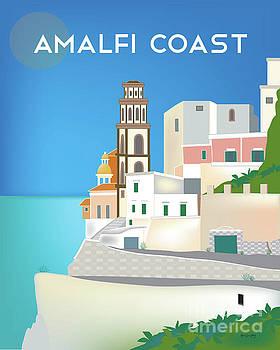 Amalfi Coast, Positano, Italy Vertical Scene by Karen Young
