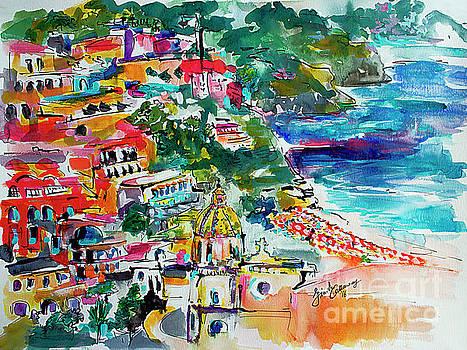 Ginette Callaway - Amalfi Coast Positano Travel Art