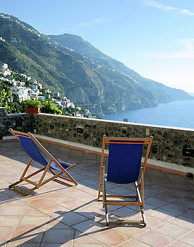 Amalfi Coast View from Villino Blu by Vicki Hone Smith