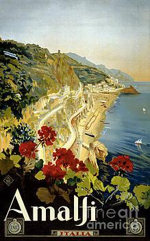 Amalfi Italy Italia Vintage Poster Restored by Vintage Treasure