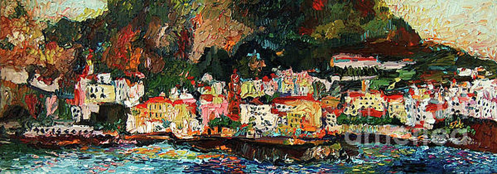 Ginette Callaway - Amalfi Italy Panorama Impressionist Oil Painting