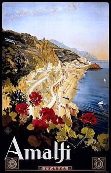 Amalfi Italy, travel poster for ENIT, ca. 1915 by Vintage Printery