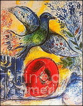 Marc Chagall - Amants Et Oiseaux