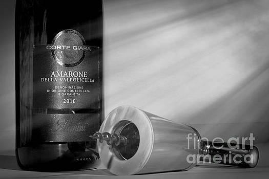 Amarone Wine and ivory corkscrew by Stefano Senise