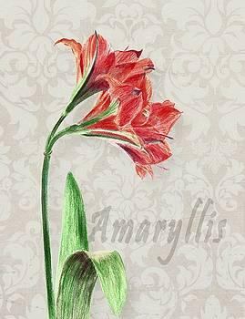 Amaryllis on the Ornament by Masha Batkova