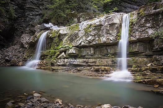 Amazing Double Waterfall - Emilia Romagna / Italy by Massimo Mazza