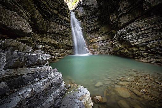 Amazing Small Waterfall - Emilia Romagna / Italy by Massimo Mazza