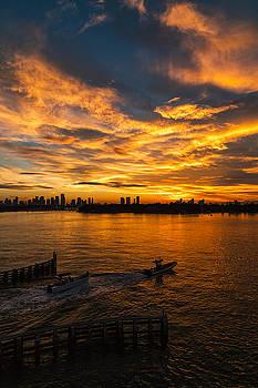 Amazing sunset in miami by Baptiste De Izarra