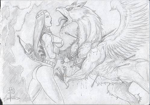 Amazon and Gryphon by Alan Lancaster