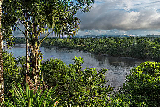 Amazon Napo river near Ahuano by Henri Leduc