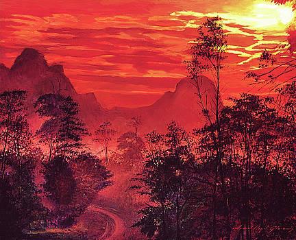 Amazon Sunset by David Lloyd Glover