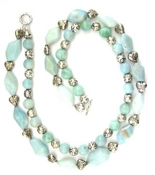 amazonite with Bali Silver by Pat Stevens