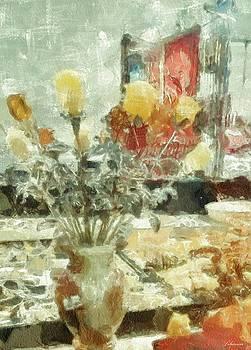 Amber Roses by Romuald  Henry Wasielewski