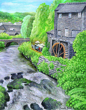 Ambleside Watermill - Lake District by Ronald Haber