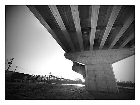 Amelia Earhart bridge in b/w in Atchison. by Dustin Soph