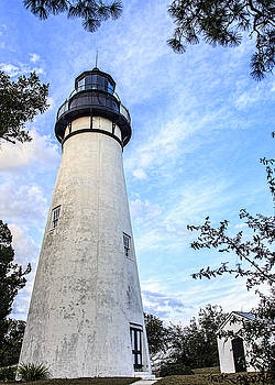 Paula Porterfield-Izzo - Amelia Island Lighthouse and Blue Skies