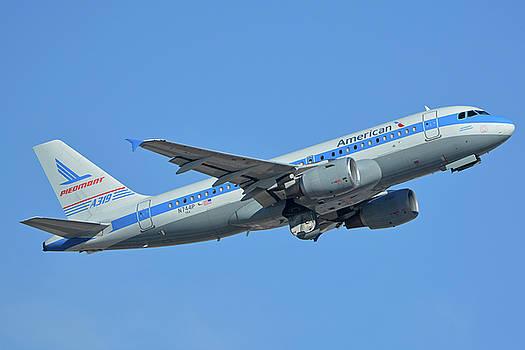 American Airbus A319-0112 N744P Piedmont Pacemaker Phoenix Sky Harbor October 16 2017 by Brian Lockett