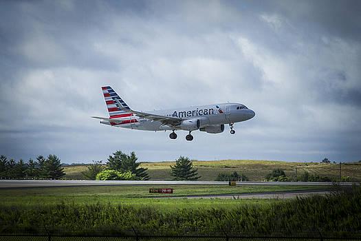 Reid Callaway - American Airlines Airbus 319 N9015D Art