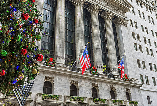 American Christmas on Wall St by Andrew Kazmierski