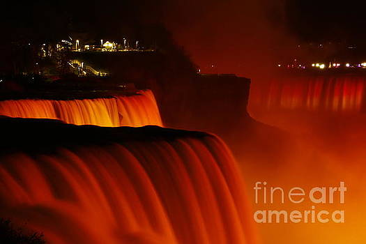 American Falls Dressed in Orange by Tony Lee