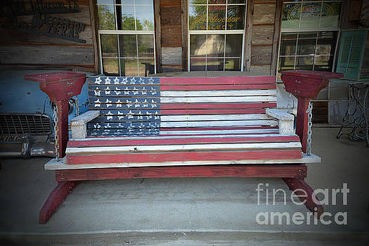 American Flag Bench by Catherine Sherman