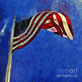Claire Bull - American Flag